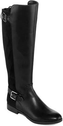 Liz Claiborne Womens Dallas Riding Boots Flat Heel Zip