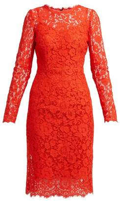 Dolce & Gabbana Cordonetto Lace Dress - Womens - Red