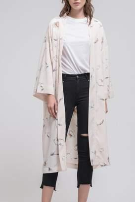 J.o.a. Floral Kimono Cardigan