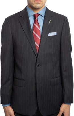 Michael Bastian Men's Slim-Fit Pinstripe Wool Two-Piece Suit with Wide Lapels