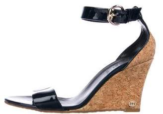 Gucci Patent Leather GG Wedges
