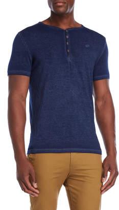 William Rast Short Sleeve V-Neck Henley Shirt