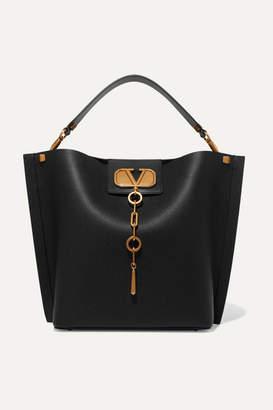 Valentino Garavani Escape Textured-leather Tote - Black
