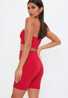 Missguided Red Cycling Short Co Ord