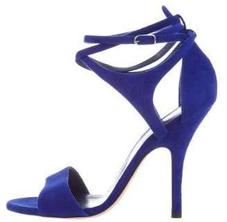 Hermes Suede Ankle-Strap Sandals