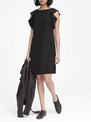 Banana Republic Petite Flutter-Sleeve Shift Dress