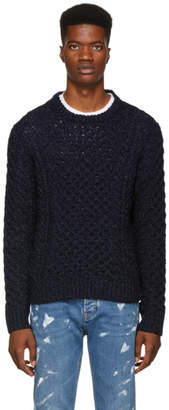 Rag & Bone Navy Trevor Aran Sweater