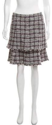 Chanel Tiered Lesage Tweed Skirt