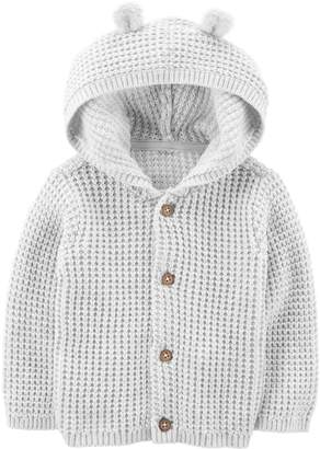 Carter's Baby Hooded Textured Cardigan