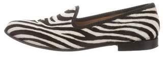 Del Toro Animal Print Round-Toe Loafers