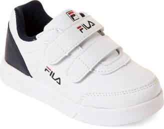 Fila Toddler Boys) White & Navy Strap Low-Top Sneakers