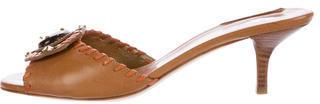 pradaPrada Embellished Leather Mules