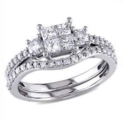 CONCERTO 1CT Diamond 14K White Gold Bridal Set