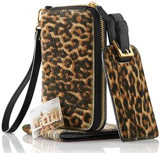 Mark And Graham Leopard Zip Wristlet