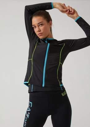 Emporio Armani Ea7 Ventus 7 Technical Fabric Sweatshirt With Headphone Port