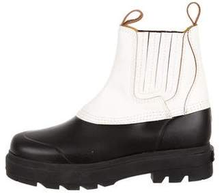 Alexander Wang Leather Accent Rubber Rain Boots w/ Tags