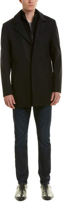 Cole Haan Melton Wool-Blend Coat