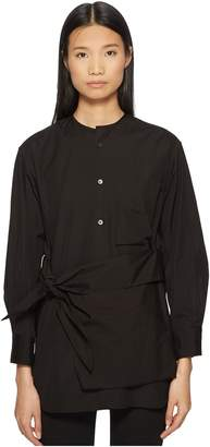 Yohji Yamamoto Y's by K-Collarless Tie Front Button Up Shirt
