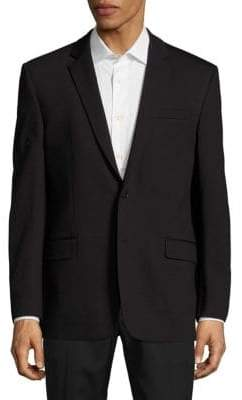 Versace Solid Notch-Lapel Jacket