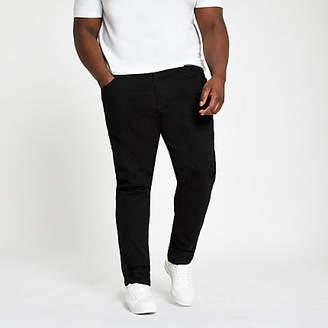 River Island Big and Tall black Sid skinny jeans