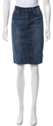 Level 99 Denim Knee-Length Skirt