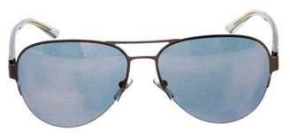 Tory Burch Mirror-Metallic Aviator Sunglasses