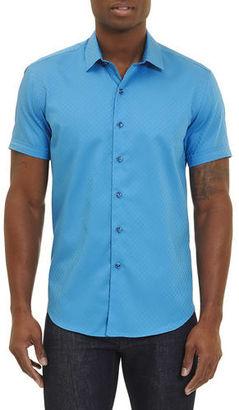 Robert Graham Vertigo Short-Sleeve Sport Shirt $178 thestylecure.com