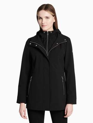 Calvin Klein soft shell hooded zip jacket
