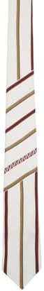 Fendi White Forever Stripe Tie