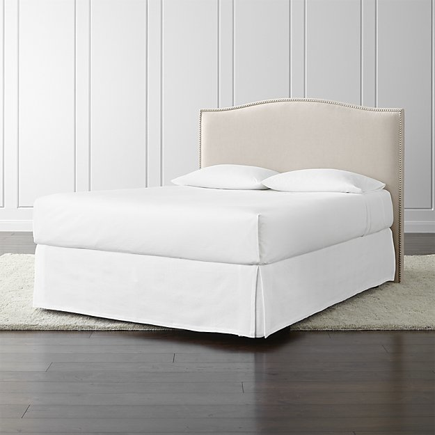 Crate & Barrel Colette Upholstered Queen Headboard