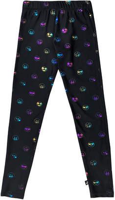 Terez Rainbow Emoji Foil-Print Leggings, Size 7-16