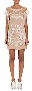 Alberta Ferretti Women's Beaded Tulle Shift Dress-Nudeflesh