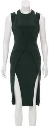 Cushnie Cutout Accented Silk Dress Cutout Accented Silk Dress