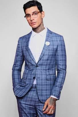 boohoo Jaspe Check Skinny Fit Suit Jacket