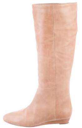 Loeffler Randall Leather Round-Toe Knee-High Boots