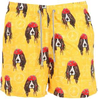 MC2 Saint Barth Gustavia Dogs Microfiber Swim Shorts