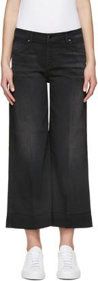J Brand Black Liza Mid-Rise Culotte Jeans $230 thestylecure.com
