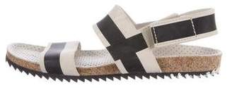 Pedro Garcia Suede Striped Sandals