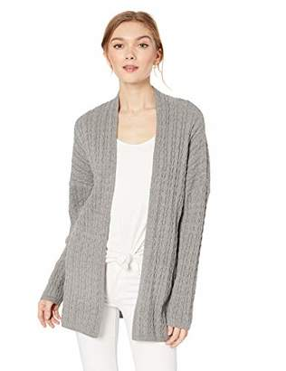 ca8d41f9eee Long Grey Sweater Cable Cardigan - ShopStyle