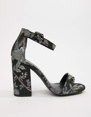 Barely There New Look Curve New Look brocade sandal