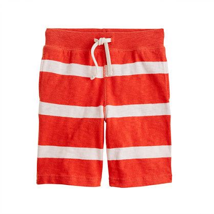 J.Crew Boys' pull-on knit short in stripe