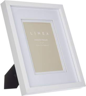 Linea Matt White Wood Effect Frame, 5x7