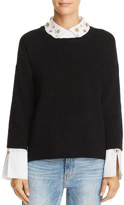 Joie Manami Layered-Look Sweater