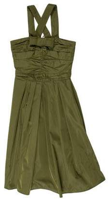 Burberry Silk Bow-Accented Dress
