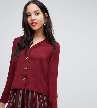 New Look Tall shirt in burgundy