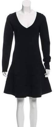 Alaia Long Sleeve A-Line Dress