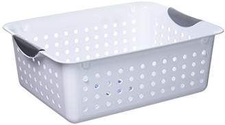 Sterilite Medium Ultra Basket Plastic Storage Bin Organizer - White