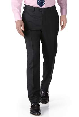 Charles Tyrwhitt Charcoal Slim Fit Twill Business Suit Wool Pants Size W30 L30