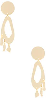 Modern Weaving Lobe Chandelier Earrings