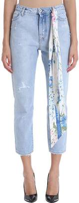 Off-White Off White Thinght Crop Light Denim Jeans